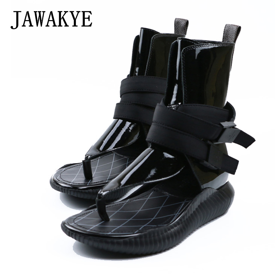 New Flipflops Women Gladiator Sandals Patent Leather Flat