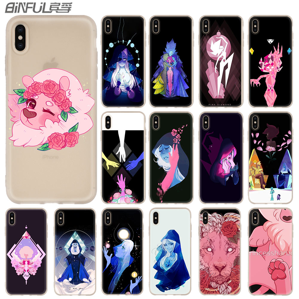 Steven Universe Pearl Garnet Case for iphone XS Max XR X 10 Cover Phone Cases for iphone 7 7plus