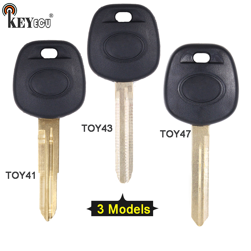 KEYECU for 1x/2x Toyota Avens RAV4 Tacoma Replacement Remote Transponder Ignition Car Key Shell Case Fob TOY41/TOY43/TOY47 Blade(China)