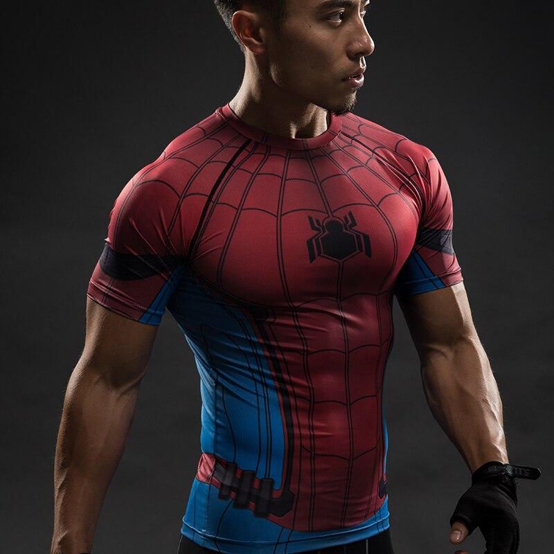 e70c3cb8 Spider Man 3D Printed T Shirt Captain America Civil War Tee Men Avengers  Short Raglan sleeve Fitness Cosplay Slim Fit Tops Male-in T-Shirts from  Men's ...
