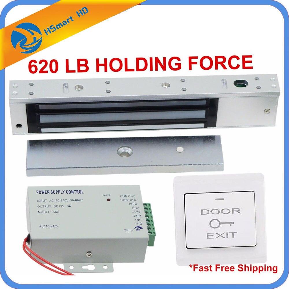 620LB Kit électrique serrure de porte aimant électro-aimant système de contrôle d'accès magnétique pour interphone vidéo sonnette porte meilleure serrure de porte