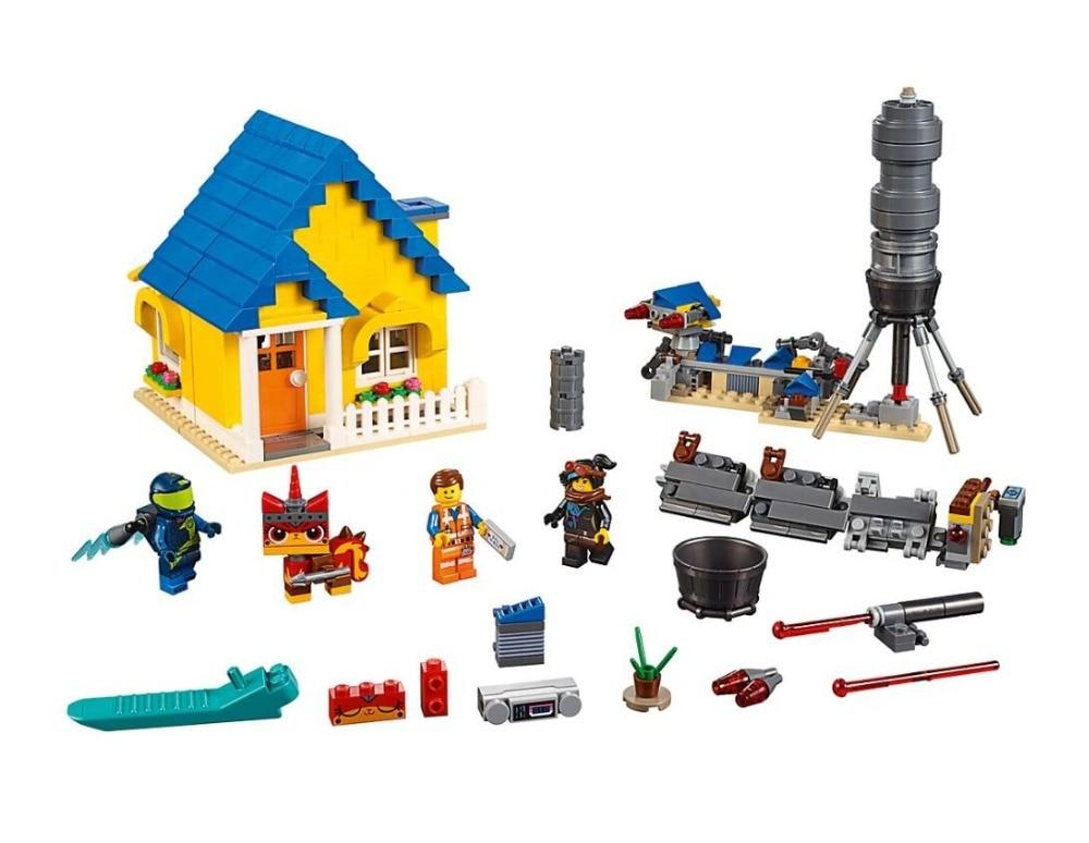 45010 Movie Series Emmet's Dream House/Rescue Rocket Model Building Block 790pcs Bricks Toys Gift Compatible With Bela 70831