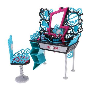 30cm Girl Fashion Doll Bedroom Funiture Set Dressing Table Chair for 1/6 Dolls Accessory Decoration Children Kids Toys Gift