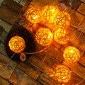 6 cm bola luz da corda led de natal luzes da árvore de natal ao ar livre guirlanda casamento ornamentos de jardim decoração fada timbo lâmpada ue us