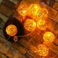 6cm Ball String Light LED Christmas Tree Lights Outdoor Xmas Garland Wedding Garden Ornaments Fairy Decoration Timbo lamp EU US