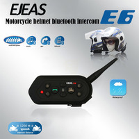 2 Pcs EJEAS E6 Bluetooth Motorcycle Headset 6 Riders 1200M Communication Helmet Interphone VOX Intercom New