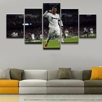 Canvas Painting Wall Art Framework HD Prints Soccer Soprt 5 Pieces Cristiano Ronaldo Portuguese Poster Bedroom