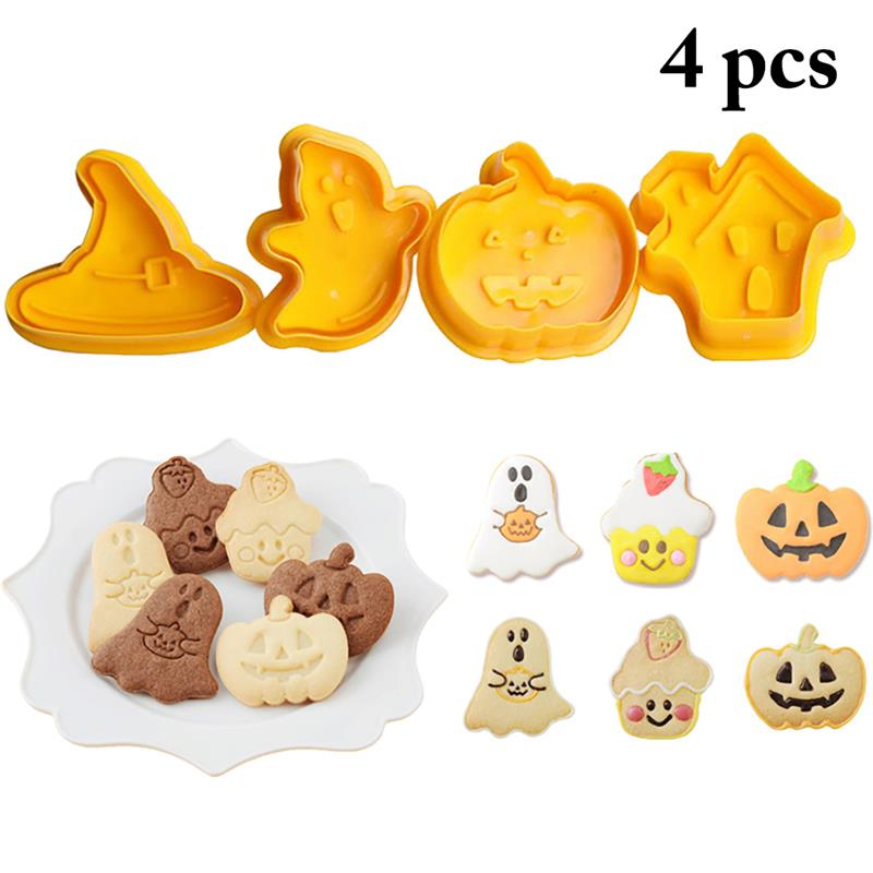 Halloween Biscuit Cookie Cutters Party Decorative Food Plastic Moulded Shapes
