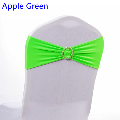Apple Grün Farbe Spandex Stuhl Schärpe Hochzeit Stuhl Schärpen Mit