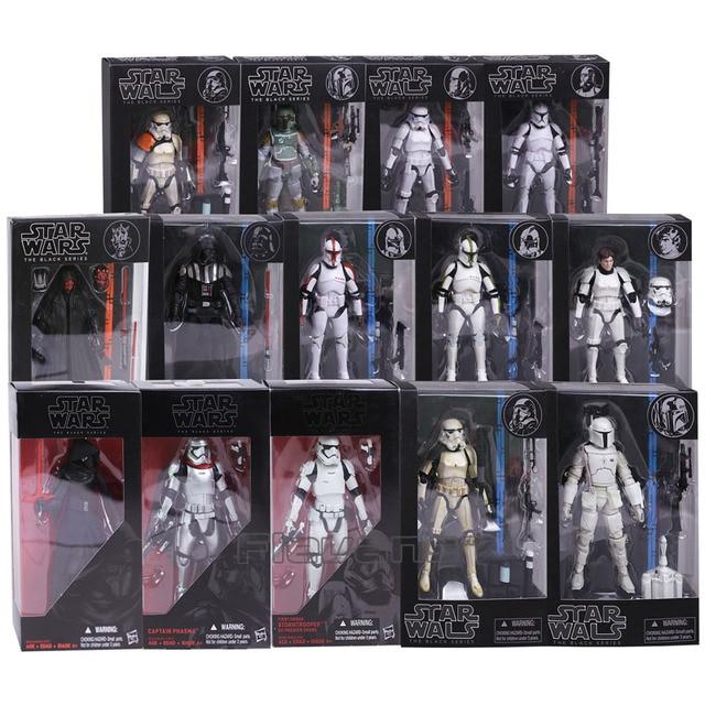 את שחור סדרת Kylo רן Stormtrooper Phasma דארת 'מאול דארת ויידר Hab סולו Boba פט PVC פעולה איור צעצוע 14 סוגים