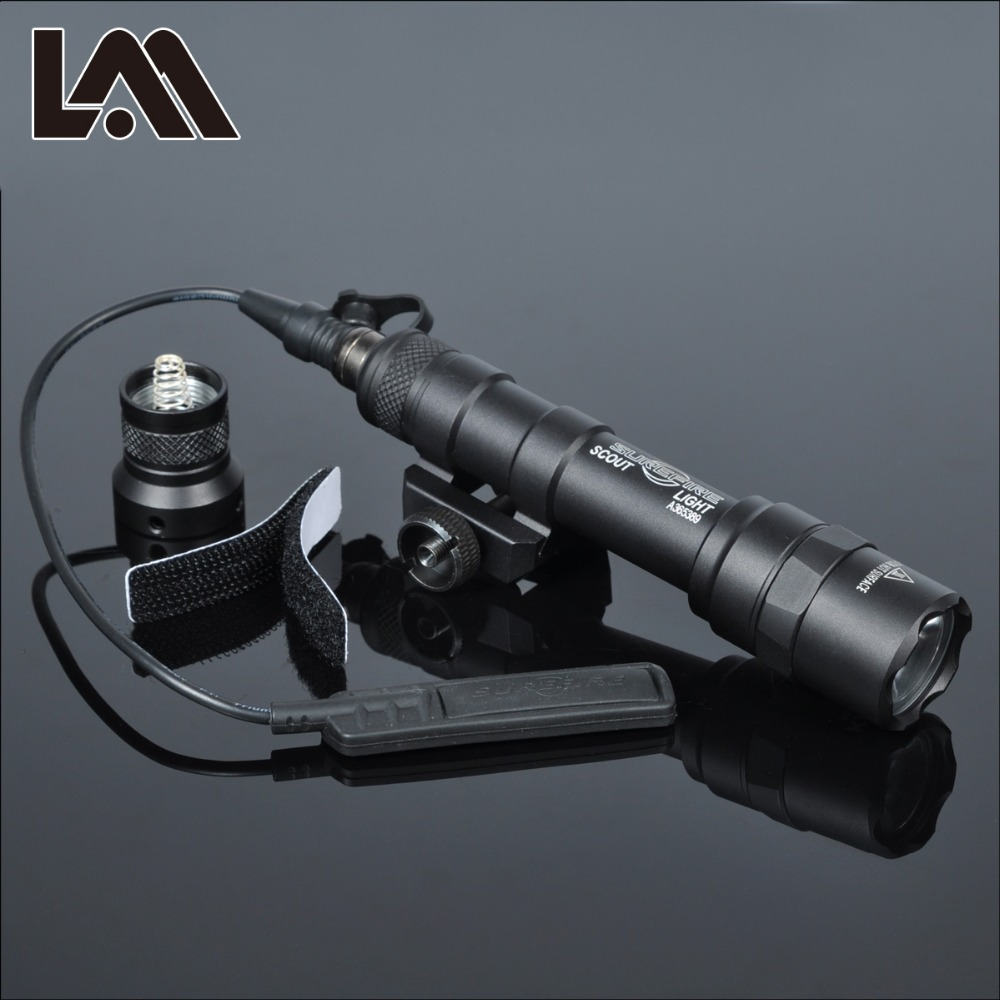 400 Lumen Tactical SF M600B Scout Light Lanterna Airsoft Flashlight Hunting Keymod Rail Mount Weapon light Pistol M600 Gun Light(China)
