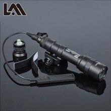 400 люмен Тактический SF M600B Scout свет Lanterna Airsoft фонарик Охота Keymod рейку оружие Свет пистолет фонарь для ружья