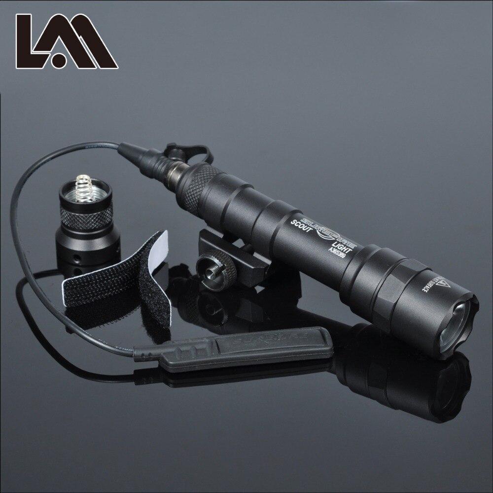400 lúmenes táctico SF M600B Luz de explorador linternas Airsoft linterna de caza Keymod Rail montaje pistola de luz