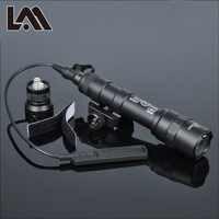 400 lúmenes táctico SF M600B luz de exploración linternas Airsoft linterna caza Keymod Rail Mount arma ligera pistola Luz