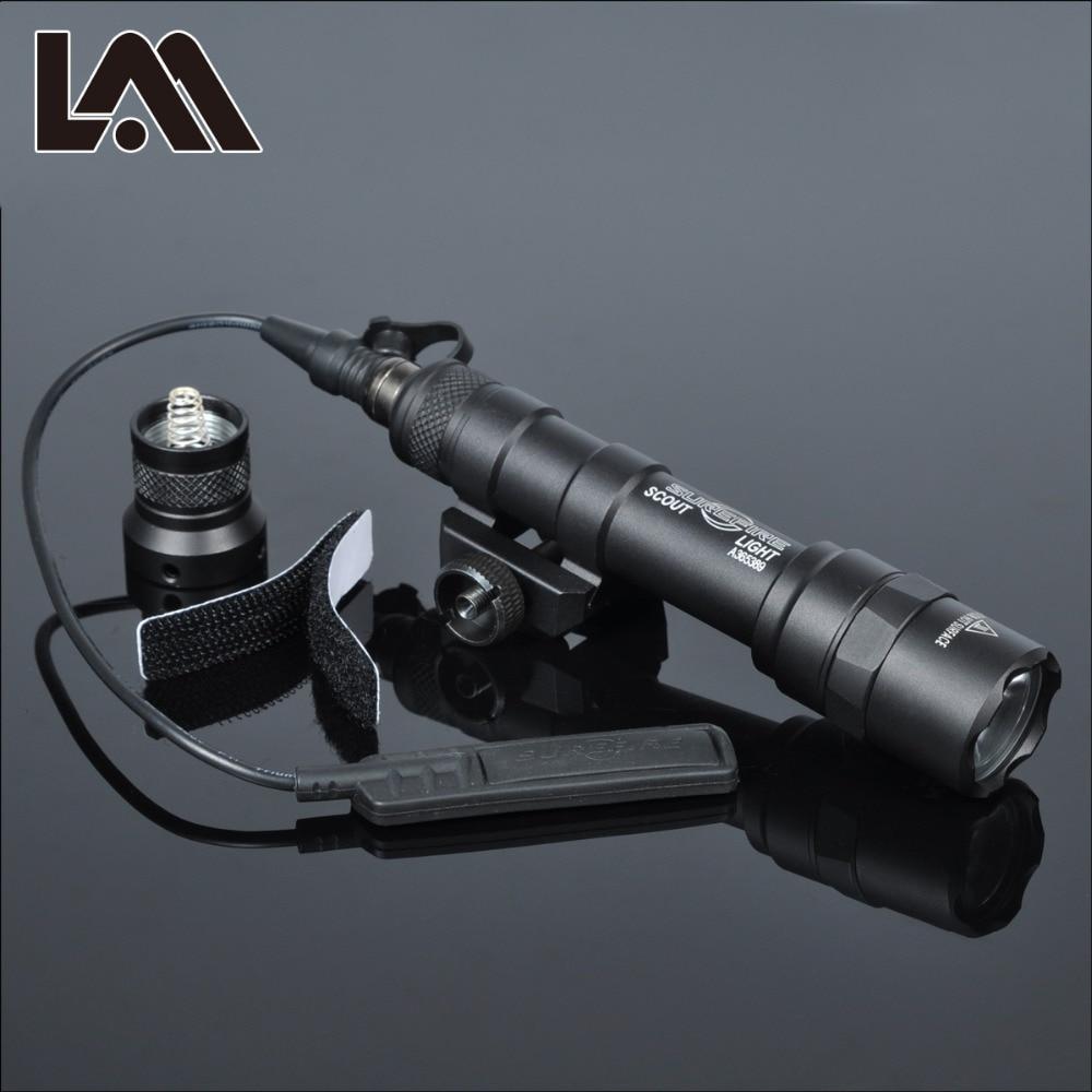 400 lumen tatico sf m600b scout luz lanterna airsoft caca keymod ferroviario montar arma de luz