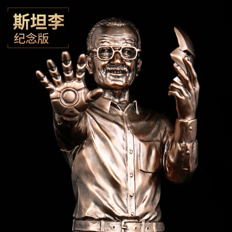 Nouveau 1/6 échelle Version limitée Marvel Superheros Stan Lee Brozen couleur résine Statue figurine Collection