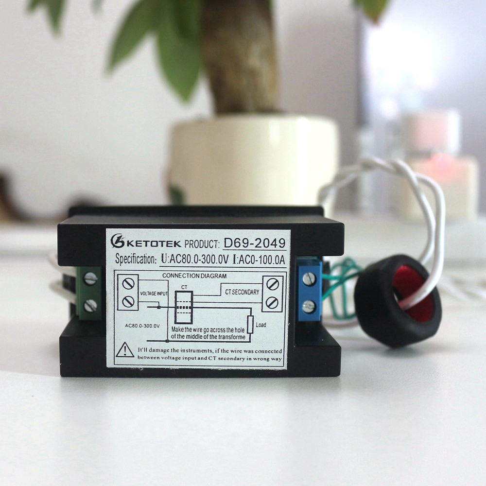 Voltmetro AC Amperometro Power Energy Meter AC 80,0-300,0 V / AC - Strumenti di misura - Fotografia 4