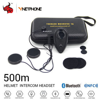 VNETPHONE Motorcycle Intercom Helmet Headset Helmet Bluetooth Interphone Wireless Intercom Bluetooth Intercom For Motorcycle image