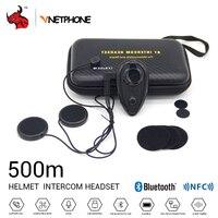 VNETPHONE Motorcycle Intercom Helmet Headset Helmet Bluetooth Interphone Wireless Intercom Bluetooth Intercom For Motorcycle