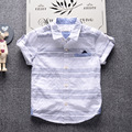 2-7T Children Clothes T-shirt for Boys 2017 Brand Designer Summer Kids Baby Short Sleeve T shirts Infant Gentleman Striped Shirt