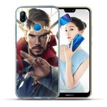 Luxury Marvel Avengers Heroes For Huawei P20 P10 P9 P8 Lite 2017 Mate 10 9 Lite Pro Plus Cover Case Pattern Coque Etui Fundas