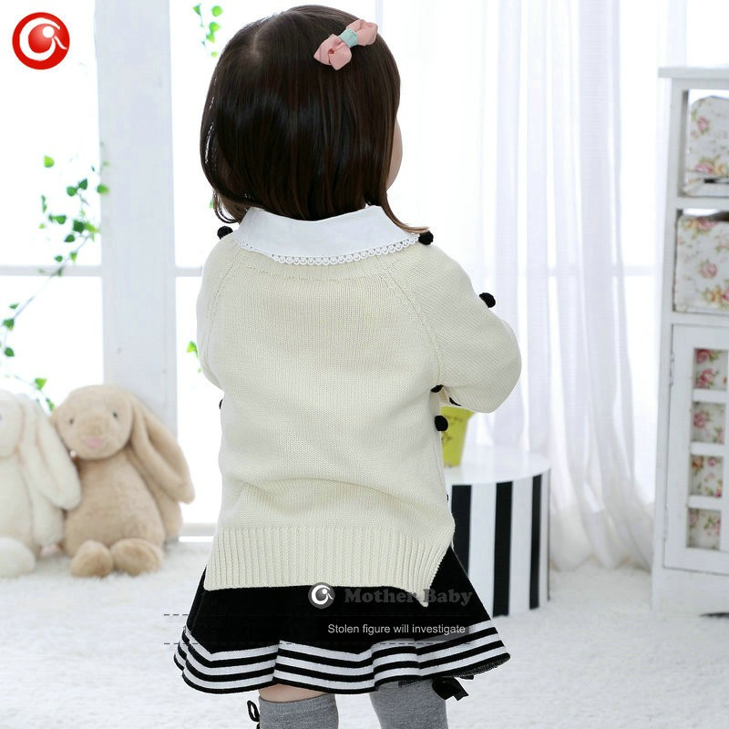 Kids Tinny Cotton Boys Sweater Children Pullover Cardigan Coat For Girls Baby Long Sleeve Knitwear Christmas Clothes With Balls (41)
