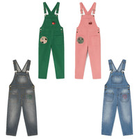 IN STOCK 2019 Autumn and Winter New Tao Bobo Kids with The Series of Boys and Girls Bib Pants Children's Casual Denim Jumpsuit
