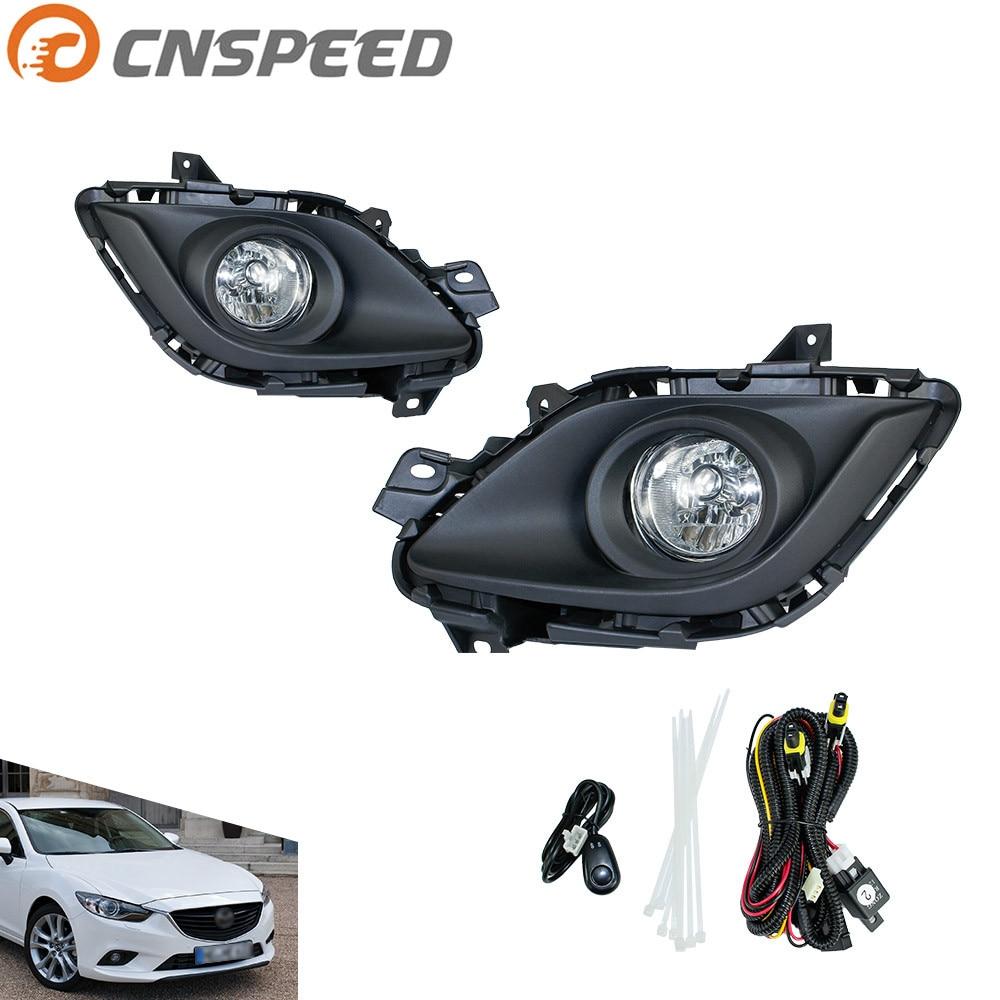 CNSPEED Противотуманные фары для Mazda 6 M6 в 2013-2015 противотуманные фары прозрачные линзы бампер туман света вождения лампы YC100922-ХЛ