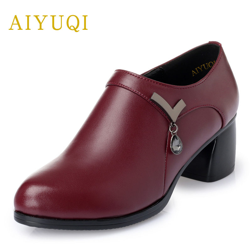 AIYUQI 2018 new spring women's genuine leather shoes with zipper deep women's single shoes comfortable soft fashion shoes female aiyuqi 2018 new spring genuine leather female comfortable shoes bow commuter casual low heeled mother shoes woeme