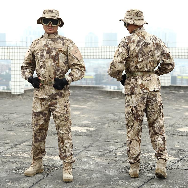 New Arrival Mens CS Paintball Suit Combat BDU Uniform Military Hunting Suit Wargame COAT&PANTS Set Tactical Jacket Ghillie Suits