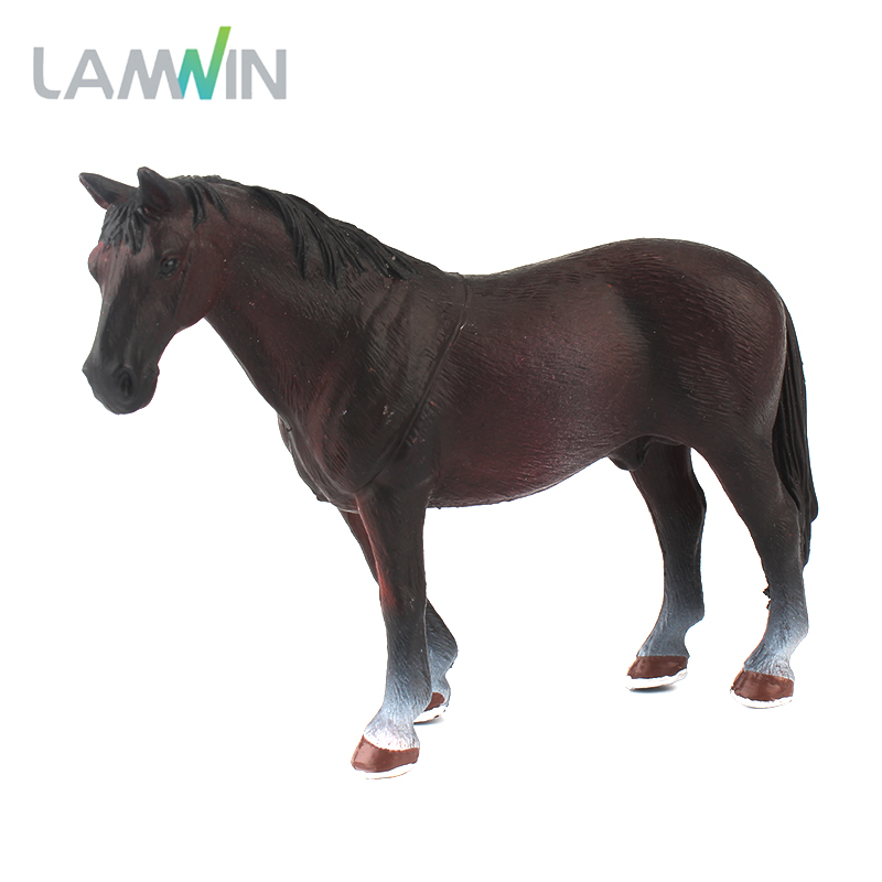 цены Lamwin Mini Hollow Type Plastic Farm Animal Toy Action Figure Simulation Horse Model Animation Figurine
