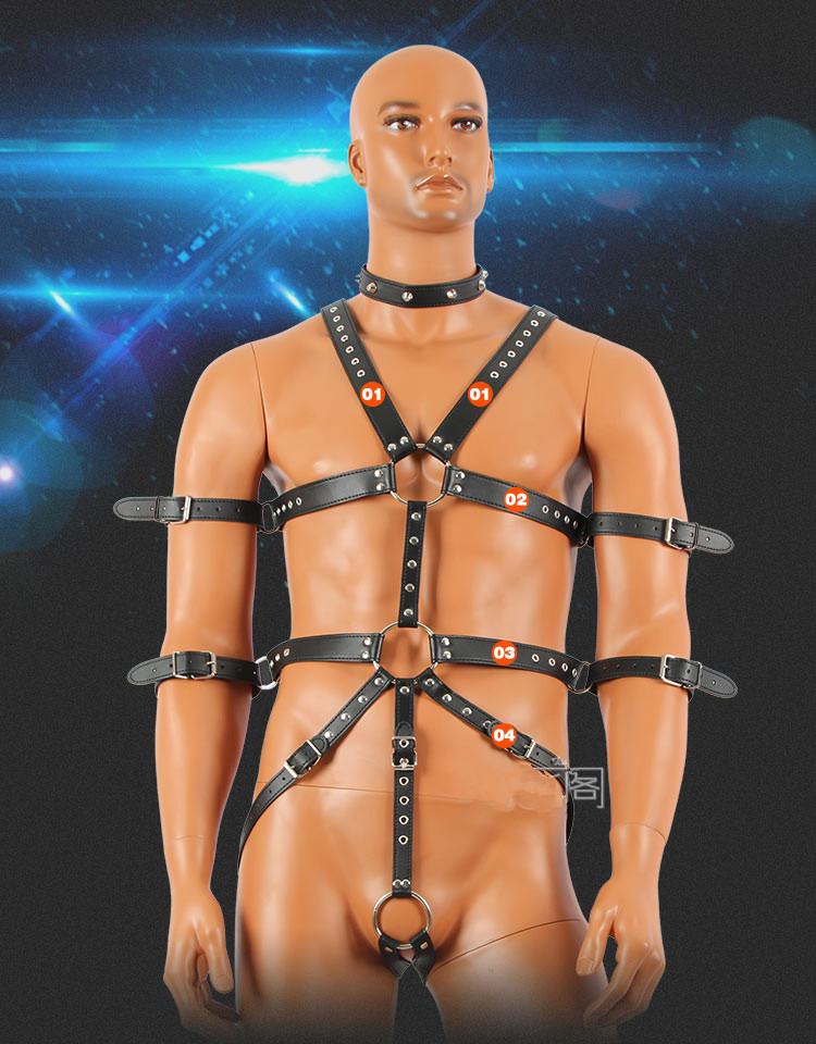 Sex Tools For Sale Leather Adult Sex Bandage Toys BDSM Fetish Bondage Harness Set Sex Slave Products Sexy SexToys For Men. adult games sexy latex device sex fetish toys hot sale rubber hanging neck chest tight wrapped tools for women