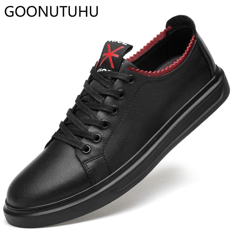 48fb6db9cad14 À Black Hommes Chaussures Cuir Semelles Blanche Pour Chaussure Compensées  3845 En Homme De Nouvelle Vache ...