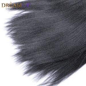 Image 5 - Dreamme שיער 3 חבילות ברזילאי מסולסל אור יקי ישר שיער טבעי הארכת 100% רמי שיער Weave חבילות צבע טבעי