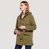 Winter Women Coats Ladies Slim With Pockets Hooded Female Jackets Winter Women Parkas Warm Fleece Female Outwear Blue Red MDR145