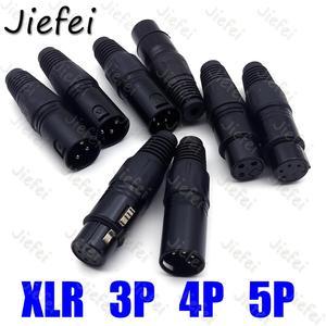 20 XLR 3Pin 4pin 5pin Audio kabel mikrofonowy złącze czarny mężczyzna + kobieta MIC kabel z wtyczką podłączyć XLR Adapter