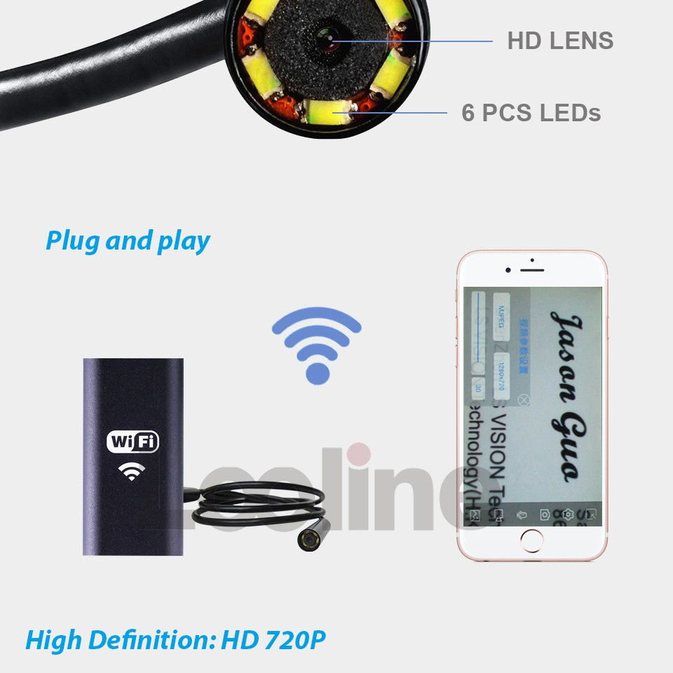 Handheld HD 2 Mega Pixels USB Endoscope Borescope Inspection Snake Tube Camera 4