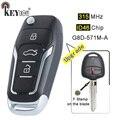 KEYECU 315 МГц ID46 G8D-571M-A F штамп на лезвие обновленный флип 2 кнопки дистанционного ключа Fob для Mitsubishi MIT8 левое лезвие