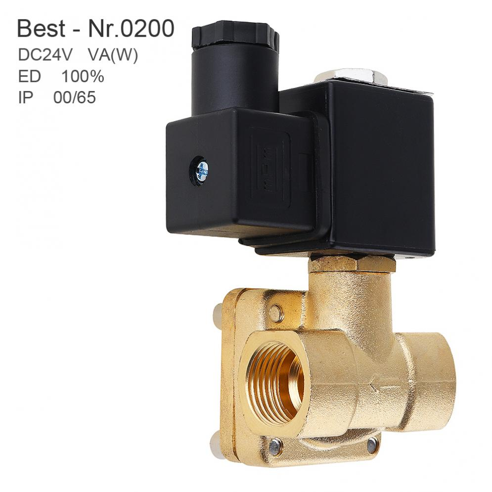 1/2'' DC 24V Brass Electric Solenoid Valve Normally Closed type Valve with Pilot Diaphragm Type and Two Position Two Way