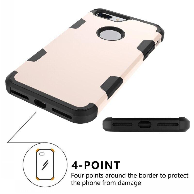 Shockproof Case Untuk Iphone 7 Plus 8 Plus Cover 360 Perlindungan - Aksesori dan suku cadang ponsel - Foto 6