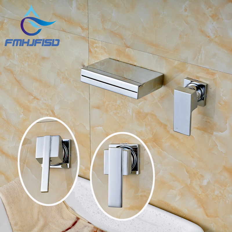 Factory Retail High Quality Wall Mounted Bright Chrome Bathroom Basin Sink Mixer Faucet wholesale and retail chrome finish bathroom wall mounted basin sink countertop faucet