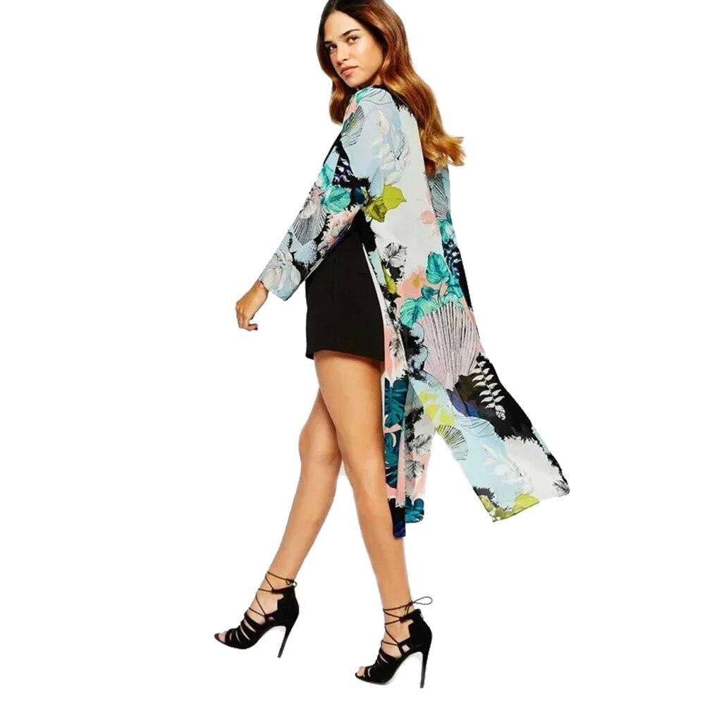Online Shop Feitong 2017 Summer Women Casual Kimono Cardigan ...