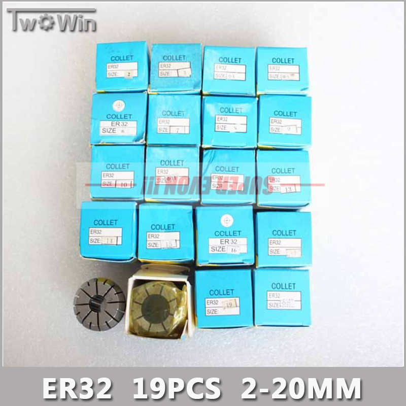 ER32 Collet Set 19pcs er32 Collet Chuck From 2mm to 20mm Beating 0.1MM Precision For CNC Milling Lathe Tool and Spindle Motor. atamjit singh pal paramjit kaur khinda and amarjit singh gill local drug delivery from concept to clinical applications