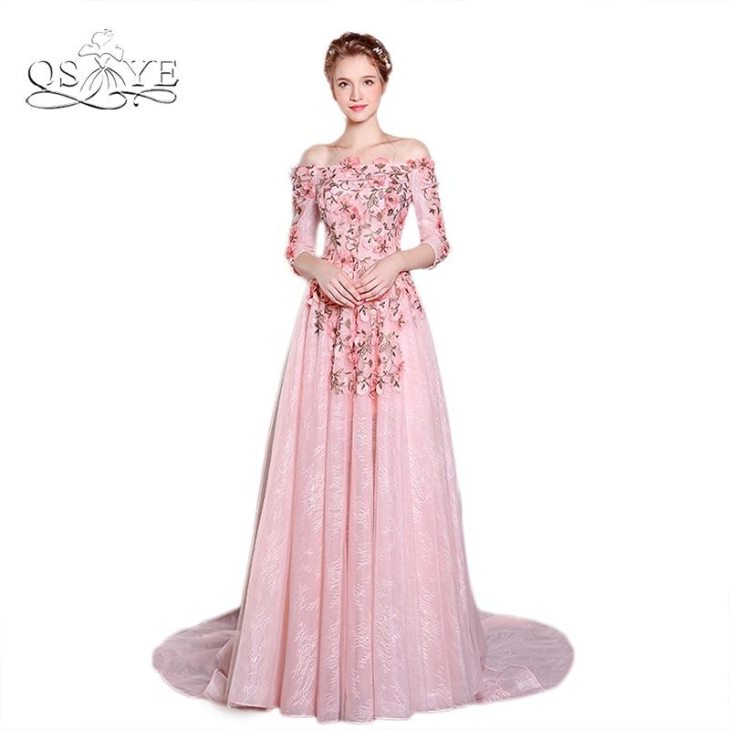 Tienda Online Nuevo Color de Rosa de Encaje Bordado de La Vendimia ...