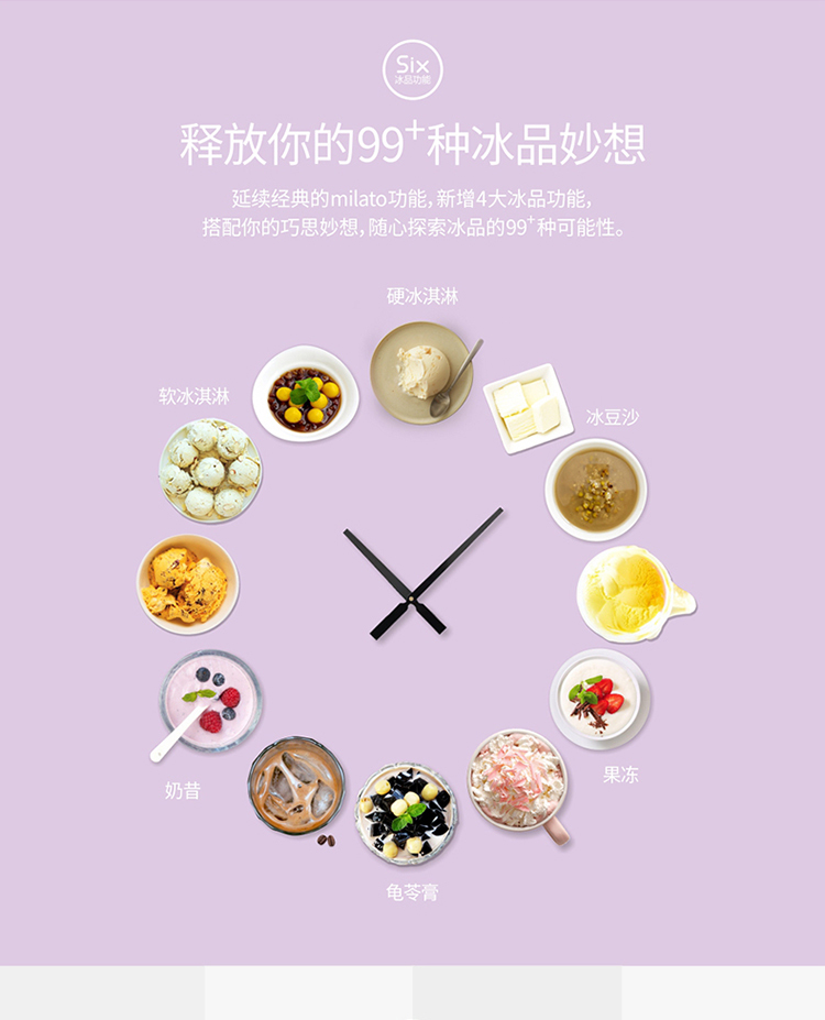 Ice Cream Machine Household Small-sized Ice Cream Machine Children Self-control Ice Cream Machine Fully Automatic Dessert 3