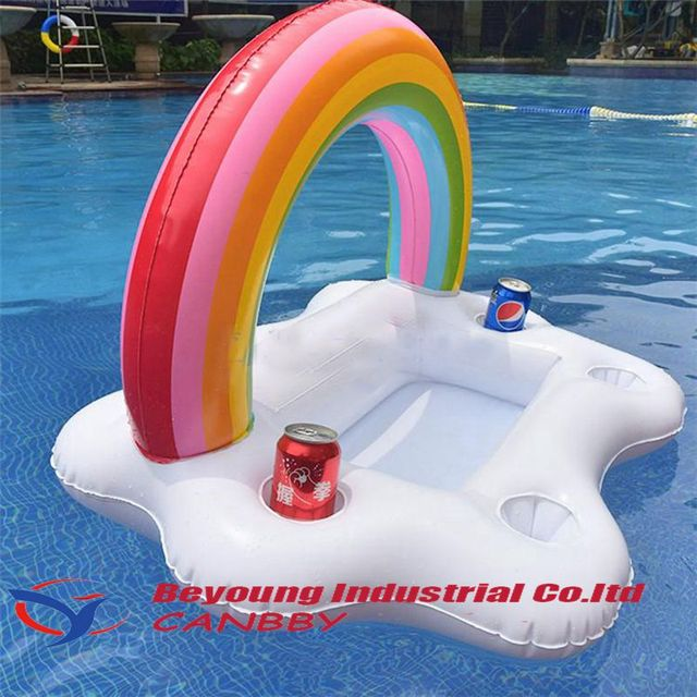 US $21.34 20% OFF|Aliexpress.com : Buy Rainbow Cloud Beach Party Pool  Cooler 2018 Newest Inflatable Swim Pool Aid Bar Floats Beverage Water Fun  Toys ...