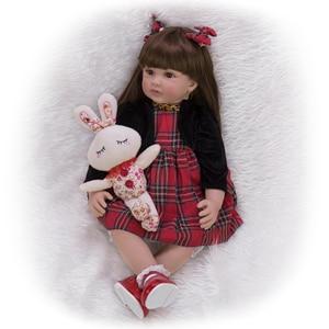 Image 4 - Keiumi 24インチリボーン人形60センチメートル布ボディ現実的なプリンセスガールベビー人形販売のための民族人形子供誕生日クリスマスギフト