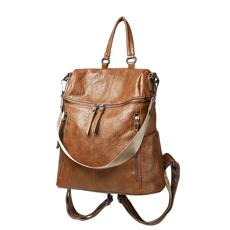 vintage women backpack high quality leather school backpacks for teenage girls casual large capacity shoulder bags mara s dream 2018 backpack simple style women pu leather backpacks for teenage girls school bags vintage solid shoulder bag