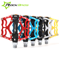 "RockBros MTB BMX DH Bike Bicycle Ultralight  Pedals Aluminum Body Axle 9/16"" Cr Mo Spindle Cycling Seald Bearing Pedal 3 Style"