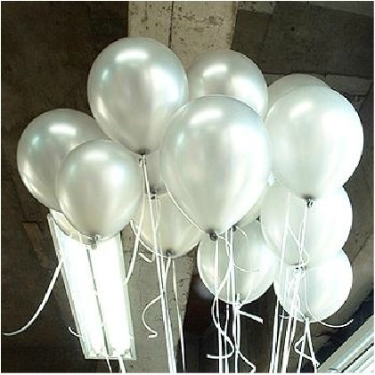 "[Fly Eagle] 100 piezas de cumpleaños, decoración para la fiesta de bodas Thicking Latex Balloons White Color 12 ""H001-90"